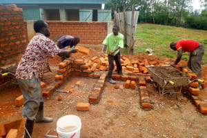 The Water Project: St. Mary's Girl's High School -  Laying Bricks For The Latrines