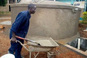 The Water Project: St. Mary's Girl's High School -  Moving Cement To Continue Building The Tank