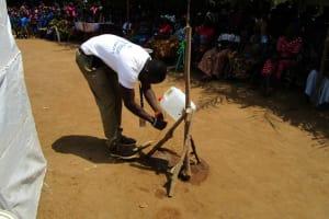 The Water Project: Tholmosor Community, Alpha Dabola Road -  Handwashing Demonstration