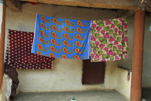 The Water Project: Kasongha Community, Kombrai Road -  Clothes Hanging
