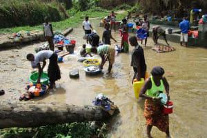 The Water Project: Kasongha Community, Kombrai Road -  Open Water Source