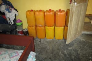 The Water Project: Kasongha Community, Kombrai Road -  Water Storage