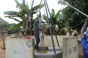 The Water Project: Kasongha Community, 3A Nahim Drive -  Flushing The Well