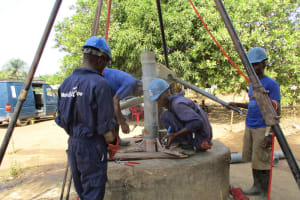 The Water Project: Sankoya Community, Prophecy Primary School -  Drilling