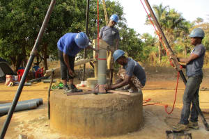 The Water Project: Sankoya Community, Prophecy Primary School -  Well Drilling Underway