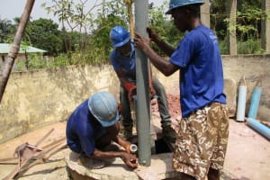 The Water Project: Yongoroo Community, New Life Clinic -  Drilling
