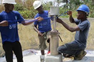 The Water Project: Yongoroo Community, New Life Clinic -  Installation