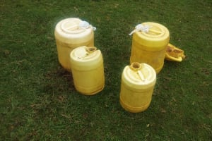 The Water Project: Emulakha Community, Alukoye Spring -  Water Containers Used To Fetch And Store Water