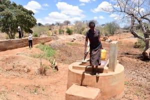 The Water Project: Katuluni Community B -  First Well Neighboring Ikulya