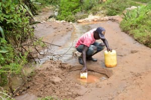 The Water Project: Mbakoni Community -  Fetching Water