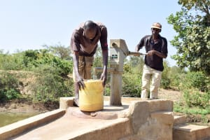 The Water Project: Kivani Community B -  First Well Installed In The Area