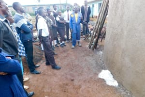 The Water Project: Womulalu Secondary School -  Tank Artisan Talking About Care