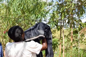 The Water Project: Masola Community A -  Using A Clotheline