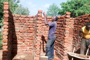 The Water Project: Womulalu Secondary School -  Latrine Construction