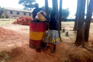 The Water Project: Erusui Girls Primary School -  Getting Water For Construction