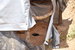 The Water Project: Kyetonye Community A -  Latrine