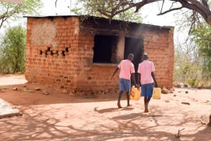 The Water Project: Katuluni Primary School -  Going To Get Water