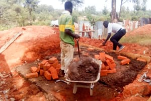 The Water Project: Erusui Girls Primary School -  Latrine Construction