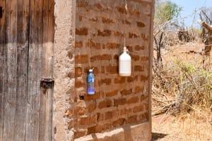 The Water Project: Katuluni Community B -  Latrine And Handwashing Bottles