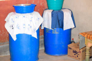 The Water Project: Utuneni Community -  Water Storage For Esthers Family