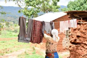 The Water Project: Kitandini Community A -  Using A Clothesline