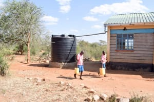 The Water Project: Katuluni Primary School -  The Plastic Tank