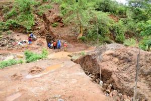 The Water Project: Kathuni Community -  Sand Dam Excavation