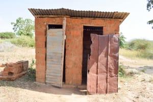 The Water Project: Kivani Community B -  Latrine
