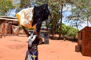 The Water Project: Uthunga Community -  Jackline Using Clothesline