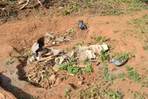 The Water Project: Maluvyu Community C -  Garbage Pit