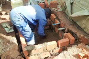 The Water Project: Womulalu Secondary School -  Working On The Catchment Area