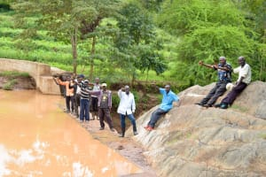 The Water Project: Mbuuni Community D -  Finished Sand Dam