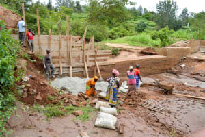 The Water Project: Kathuni Community -  Sand Dam Construction