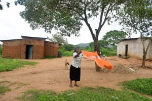 The Water Project: Kivandini Community A -  Using A Clothesline