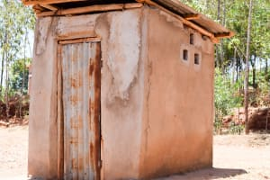 The Water Project: Utuneni Community A -  Esthers Latrine