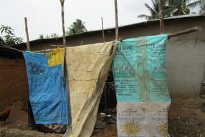 The Water Project: Targrin Community -  Bathing Shelter
