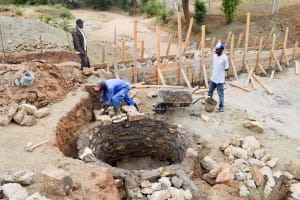 The Water Project: Kivandini Community A -  Well Construction