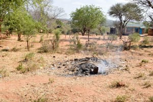 The Water Project: Katuluni Primary School -  Burning Trash
