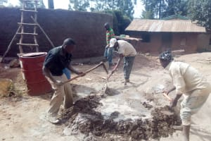 The Water Project: Erusui Girls Primary School -  Tank Construction