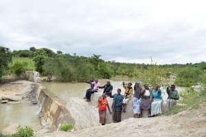The Water Project: Katung'uli Community B -  Finished Sand Dam