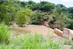 The Water Project: Kathuni Community -  Finished Sand Dam