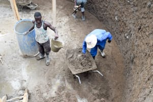 The Water Project: Kyulungwa Primary School -  Tank Construction