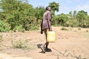 The Water Project: Kivani Community B -  Carrying Water