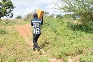The Water Project: Syatu Community A -  Carrying Water