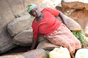 The Water Project: Uthunga Community -  Using Open Water Sources