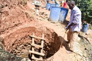 The Water Project: Mbuuni Community C -  Well Excavation