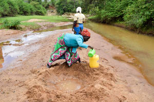 The Water Project: Kitandini Community A -  Current Water Source