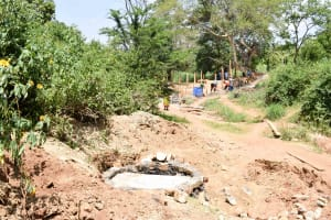 The Water Project: Kitandini Community A -  Well Construction