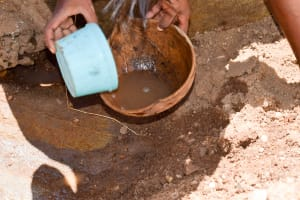 The Water Project: Uthunga Community A -  Getting Dirty River Water
