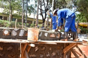 The Water Project: Kaani Lions Secondary School -  Tank Construction